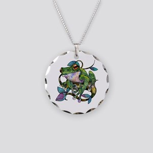 Wild Frog Necklace Circle Charm
