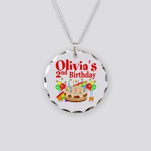 2ND BIRTHDAY Necklace Circle Charm