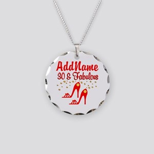 30TH STILETTO Necklace Circle Charm