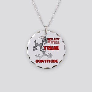 Goat Attitude Necklace Circle Charm
