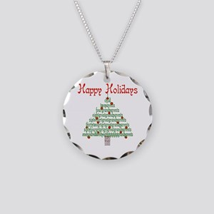 Genealogy NumbersTree Necklace Circle Charm