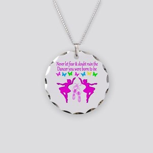BALLERINA Necklace Circle Charm