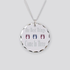 best things come in three Necklace Circle Charm