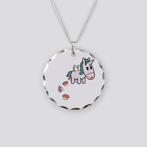 Unicorn Sweets Necklace Circle Charm
