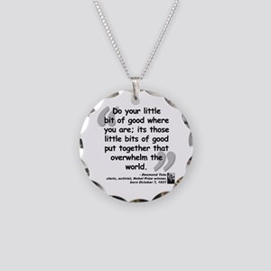 Tutu Good Quote Necklace Circle Charm