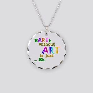 EarthWithoutArt Necklace Circle Charm