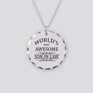 World's Most Awesome Son-in-Law Necklace Circle Ch