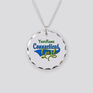Connecticut Girl Necklace Circle Charm