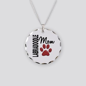 Labradoodle Mom 2 Necklace Circle Charm