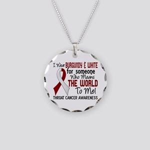 Throat Cancer MeansWorldToMe Necklace Circle Charm