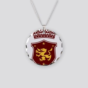 Shield and Crown Necklace