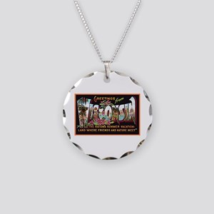 Wisconsin Greetings Necklace Circle Charm