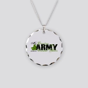 Grandson Combat Boots - ARMY Necklace Circle Charm