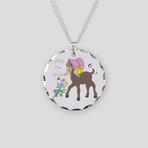 Baby Nubian Goat Necklace Circle Charm