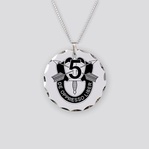 5th Special Forces - DUI - N Necklace Circle Charm