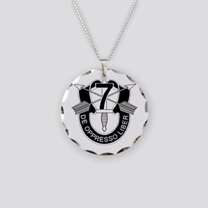 7th Special Forces - DUI - N Necklace Circle Charm