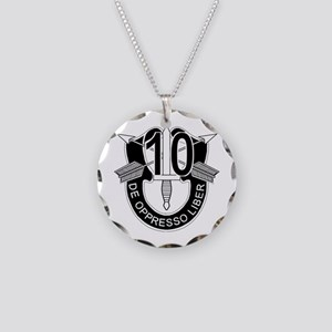 10th Special Forces - DUI - Necklace Circle Charm