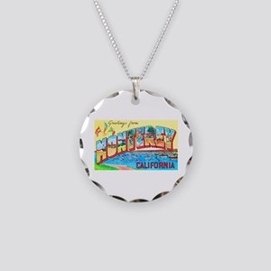 Monterey California Greetings Necklace Circle Char
