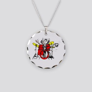 WILDCAT DRUMMER™ Necklace Circle Charm