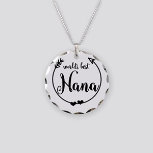 World's Best Nana Necklace Circle Charm