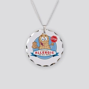 Allergic All Nuts Necklace Circle Charm
