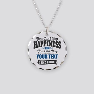 Custom Happiness Necklace Circle Charm