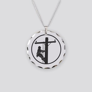 Lineman Necklace Circle Charm