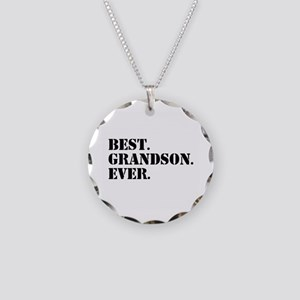 Best Grandson Ever Necklace Circle Charm