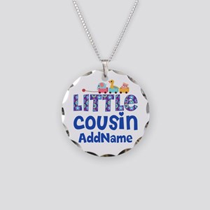 Personalized Little Cousin Necklace Circle Charm