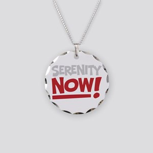 Serenity Now! Necklace Circle Charm