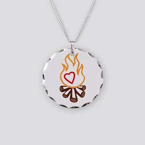 campfire applique Necklace