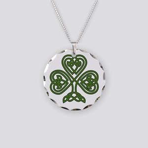 Celtic Shamrock - St Patrick Necklace Circle Charm