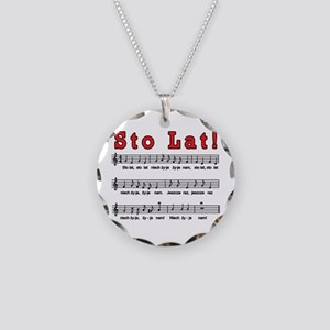 Sto Lat! Song Necklace Circle Charm