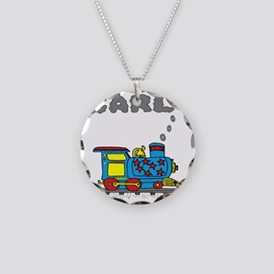 Carl-train Necklace Circle Charm