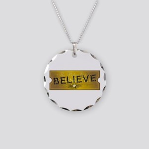 Polar Express Punched Ticket - BELIEVE Necklace Ci