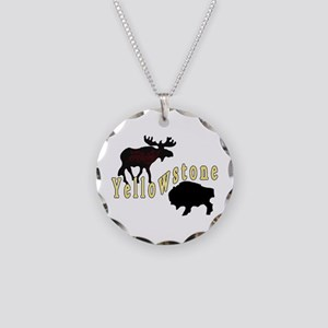 Bison Moose Yellowstone Necklace Circle Charm