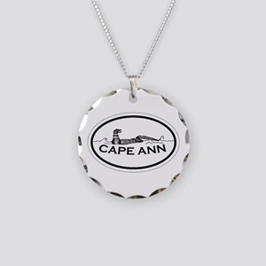 Cape Ann - Oval Design. Necklace Circle Charm