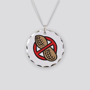 No Peanuts! Necklace Circle Charm