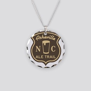 Asheville Ale Trail Logo Necklace Circle Charm