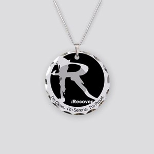 iRecover - Clean. Serene. Pr Necklace Circle Charm