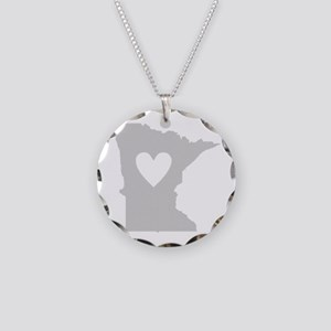 Heart Minnesota Necklace Circle Charm
