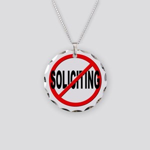 No Solicitation Necklace Circle Charm