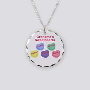 Custom Grand kids sweethearts Necklace Circle Char