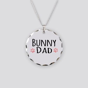 Bunny Dad Necklace Circle Charm