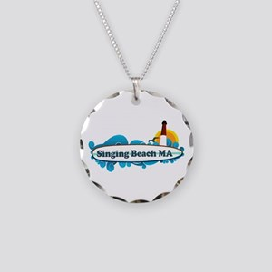 Singing beach MA. Necklace Circle Charm