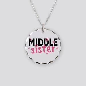 Middle Sister Necklace Circle Charm