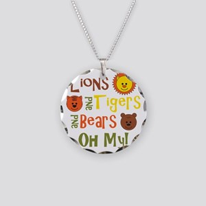 lionstigersbears Necklace Circle Charm