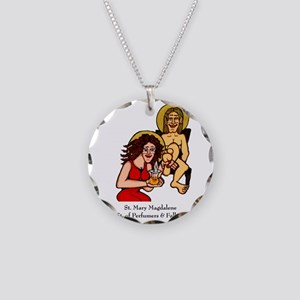 Mary Magdalene Necklace Circle Charm