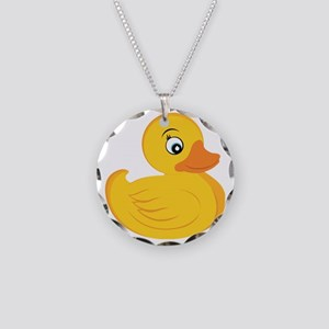Rubber Ducky Necklace Circle Charm