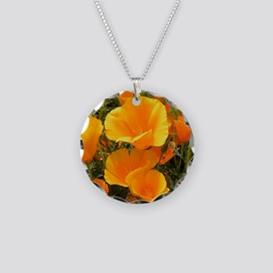 Poppies (Eschscholzia califo Necklace Circle Charm